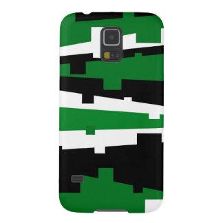 Green Geometric Striped Galaxy S5 Cover