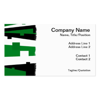 Green Geometric Striped Pack Of Standard Business Cards
