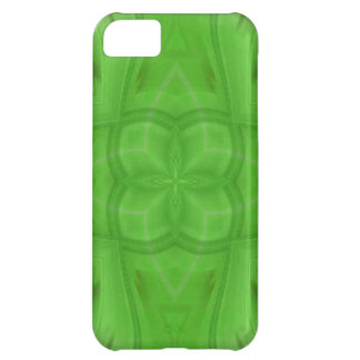 Green geometric wood pattern iPhone 5C case