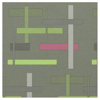 Green Geometry Fabric