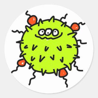 Green Germ Classic Round Sticker