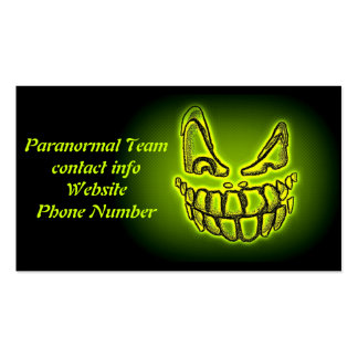 Green Ghost Paranormal Team business card