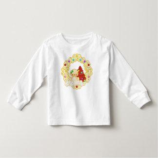Green Gingerbread Girl Wreath Pixel Art Tee Shirt