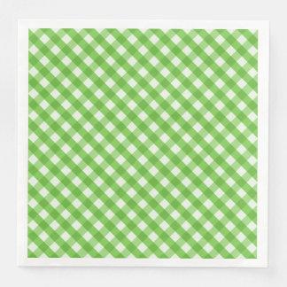 Green Gingham Disposable Napkin