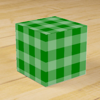 Green Gingham Favour Box