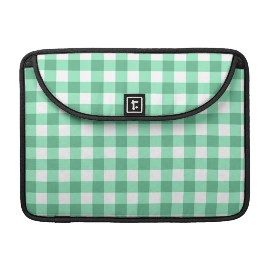 Green Gingham Pattern Sleeves For MacBook Pro