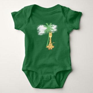 Green Giraffe Baby Jersey Bodysuit