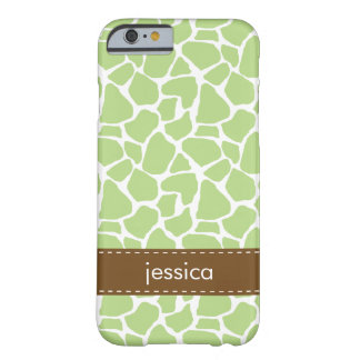 Green Giraffe Pattern Barely There iPhone 6 Case