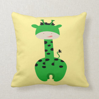 Green Giraffe Pillow