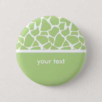 Green Giraffe Print Customizable Button