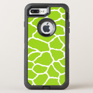 Green Giraffe Print OtterBox iPhone 7 Plus Case