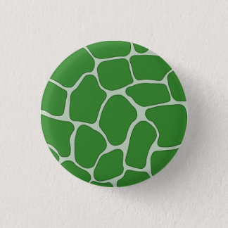 Green Giraffe Print Pattern Button