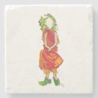 Green Girl Coaster