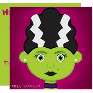 Green girl monster card