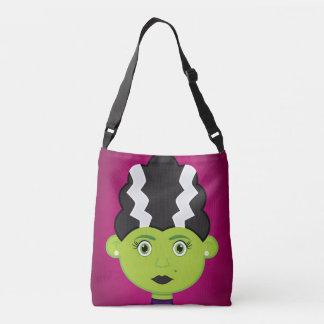 Green girl monster crossbody bag