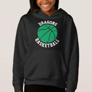 Green Girls Basketball Custom Hoodie Sweatshirt