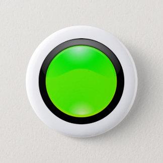Green Glass 6 Cm Round Badge