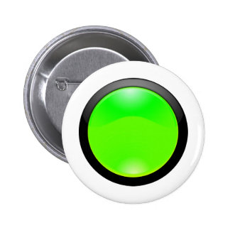 Green Glass 6 Cm Round Badge
