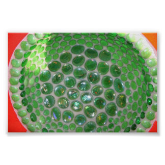 green glass mosaic poster
