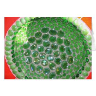 Green Glass Mosiac Greeting Card