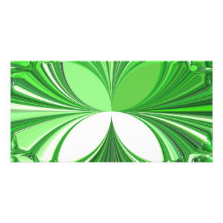 Green Glass Stones Personalized Photo Card