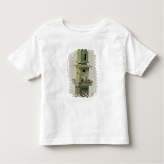 Green glazed model of a tower shirt