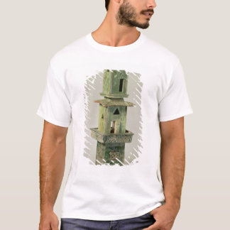 Green glazed model of a tower T-Shirt