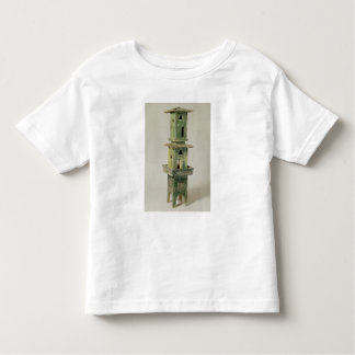 Green glazed model of a tower toddler T-Shirt