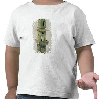 Green glazed model of a tower t shirts