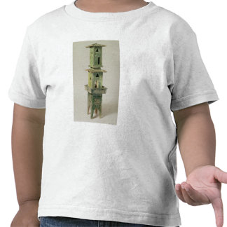 Green glazed model of a tower t-shirts