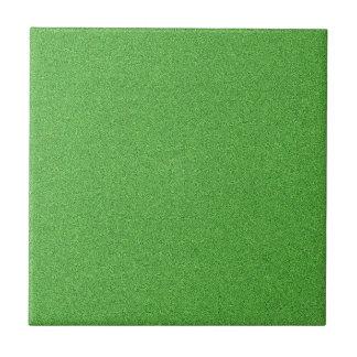 Green Glimmer Small Square Tile