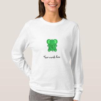Green glitter elephant T-Shirt