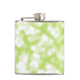 Green Glitter Faux foil Confetti Hip Flask