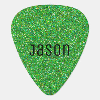 Green Glitter Guitar Pick
