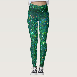 Green Glitter Leggings