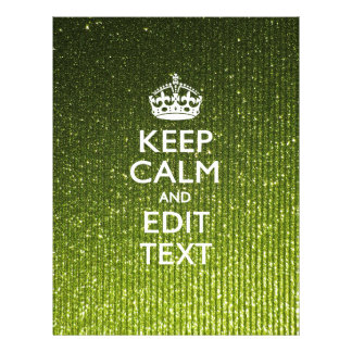 Green Glitter Like Personalize Your Keep Calm Gift 21.5 Cm X 28 Cm Flyer