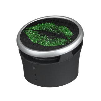 Green Glitter Lips Bluetooth Speaker