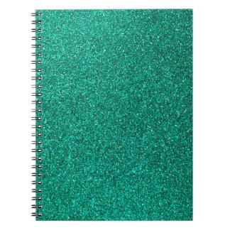 Green Glitter Notebooks
