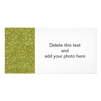 Green Glitter Printed Photo Cards