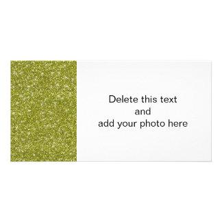 Green Glitter Printed Photo Card