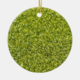 GREEN GLITTER PRODUCTS for HOLIDAYS or Any Day! Christmas Ornament