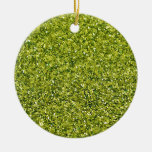GREEN GLITTER PRODUCTS for HOLIDAYS or Any Day! Round Ceramic Decoration
