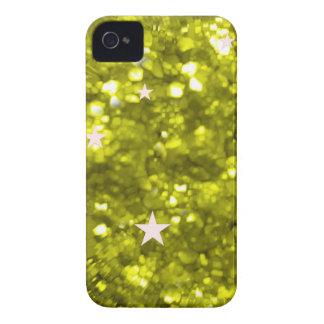 Green glitter stars iphone 4 barely case