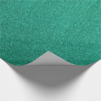 Green Glitter Wrapping Paper
