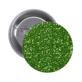 Green Glitters Button
