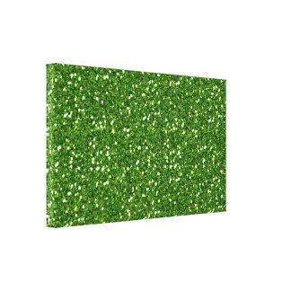 Green Glitters Canvas Print