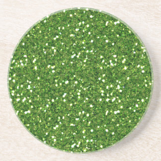 Green Glitters Coaster