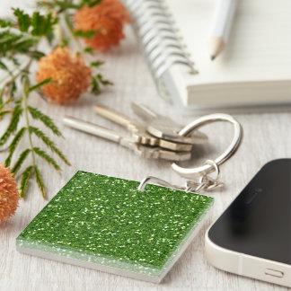 Green Glitters Keychain Acrylic Keychain