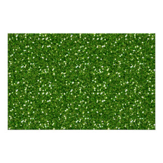 Green Glitters Poster
