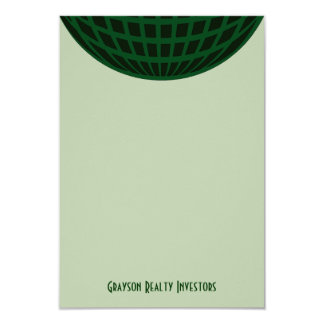 Green Global Business 9 Cm X 13 Cm Invitation Card